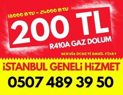 R410A 18000 BTU 24000 BTU Klima Gaz Dolumu