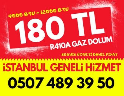 R410A 9000 BTU 12000 BTU Klima Gaz Dolumu